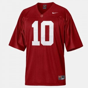 Youth Bama #10 Football A.J. McCarron college Jersey - Red
