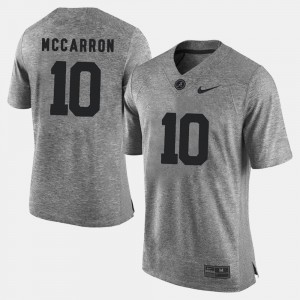 Men's Gridiron Gray Limited Gridiron Limited #10 Bama A.J. McCarron college Jersey - Gray