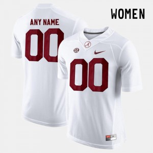 Ladies #00 Alabama Roll Tide Limited Football college Custom Jersey - White