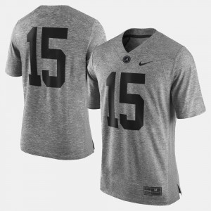 Mens Gridiron Limited #15 Gridiron Gray Limited Bama college Jersey - Gray