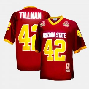 Youth Football #42 Arizona State Pat Tillman college Jersey - Red