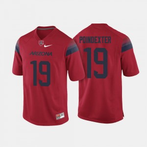 Mens #19 Football Wildcats Shawn Poindexter college Jersey - Red