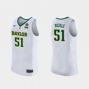 Womens #51 2019 NCAA Women's Basketball Champions Baylor University Caitlyn Bickle college Jersey - White