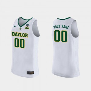 For Women's 2019 NCAA Women's Basketball Champions Bears #00 college Customized Jersey - White