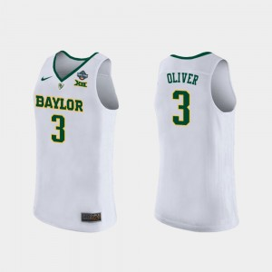 For Women's #3 2019 NCAA Women's Basketball Champions BU Trinity Oliver college Jersey - White
