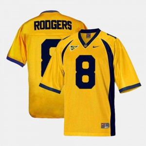 Youth(Kids) #8 Football Golden Bears Aaron Rodgers college Jersey - Gold