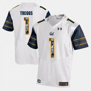 Men's Player Pictorial #1 Cal Berkeley Bryce Treggs college Jersey - White