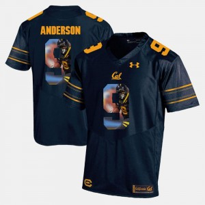 Mens #9 University of California Player Pictorial C.J. Anderson college Jersey - Navy Blue