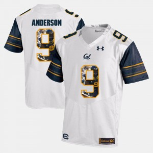 Men #9 Player Pictorial Cal C.J. Anderson college Jersey - White