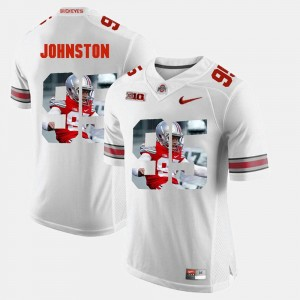 Mens Pictorial Fashion Buckeyes #95 Cameron Johnston college Jersey - White