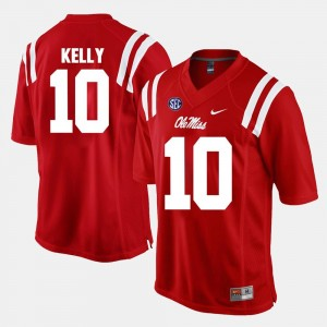 Men #10 Alumni Football Game University of Mississippi Chad Kelly college Jersey - Red