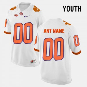 For Kids Limited Football Clemson University #00 college Customized Jerseys - White