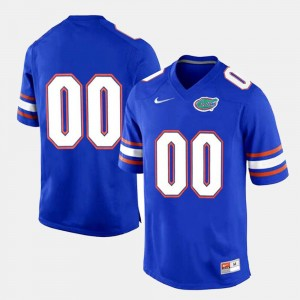 Men's #00 college Customized Jersey - Royal Blue Limited Football Florida