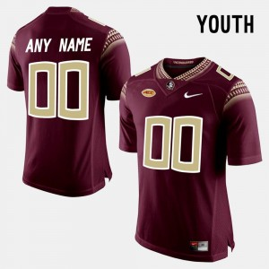 For Kids FSU #00 Limited Football college Customized Jerseys - Red