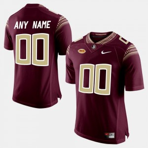 Mens Florida State Seminoles #00 Limited Football college Customized Jerseys - Red