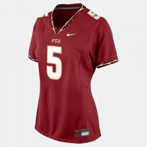 Womens Football #5 Florida ST Jameis Winston college Jersey - Red