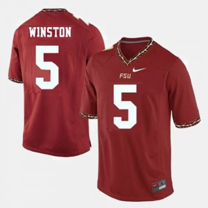 Youth(Kids) Florida State Seminoles #5 Football Jameis Winston college Jersey - Red