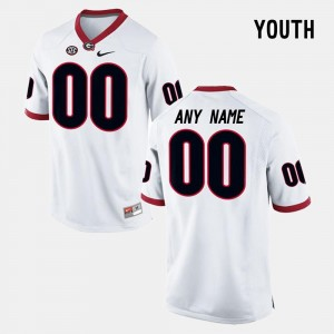 Youth Limited Football Georgia #00 college Customized Jerseys - White