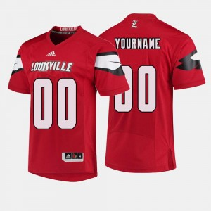 Men's Football #00 Cardinals college Customized Jersey - Red