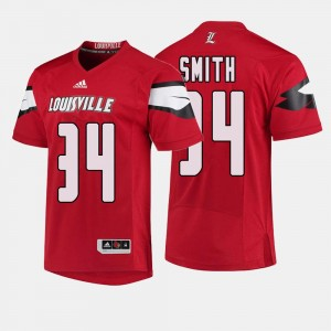Men Cardinals #34 Football Jeremy Smith college Jersey - Red