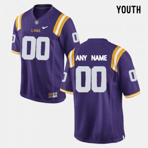 Kids Limited Football #00 Tigers college Customized Jersey - Purple