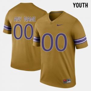 Youth Louisiana State Tigers #00 Throwback college Customized Jersey - Gridiron Gold