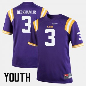 For Kids Louisiana State Tigers Alumni Football Game #3 Odell Beckham Jr college Jersey - Purple
