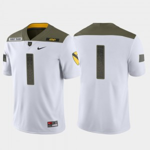 Men's 1st Cavalry Division #1 Army Limited Edition college Jersey - White