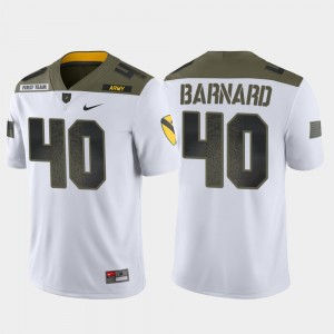 Men's #40 Army West Point Limited Edition 1st Cavalry Division Cade Barnard college Jersey - White