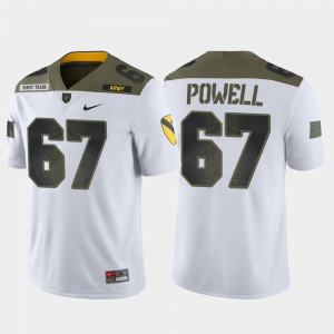 Men's 1st Cavalry Division #67 Limited Edition Army Black Knights Dean Powell college Jersey - White