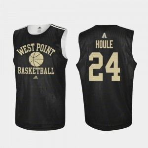 Men's Basketball #24 Practice Army Jason Houle college Jersey - Black