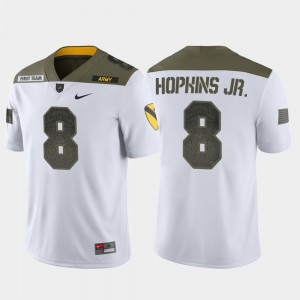 Men 1st Cavalry Division Limited Edition #8 Army Black Knights Kelvin Hopkins Jr. college Jersey - White