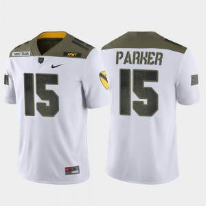 Men #15 1st Cavalry Division West Point Limited Edition Ryan Parker college Jersey - White