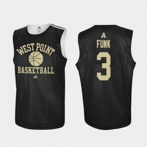 Men's Basketball West Point Practice #3 Tommy Funk college Jersey - Black