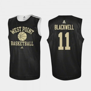 Men's #11 Army Practice Basketball Tucker Blackwell college Jersey - Black