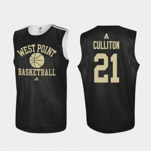 Men's Basketball Practice Army #21 Will Culliton college Jersey - Black