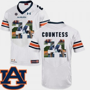 Mens Auburn Tigers Football #24 Pictorial Fashion Blake Countess college Jersey - White