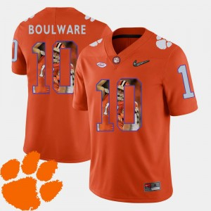 Mens Football #10 Pictorial Fashion CFP Champs Ben Boulware college Jersey - Orange