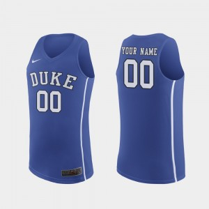 Men's March Madness Basketball #00 Authentic Blue Devils college Custom Jersey - Royal