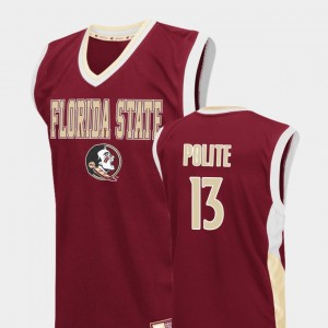 Men's Basketball Seminole #13 Fadeaway Anthony Polite college Jersey - Red