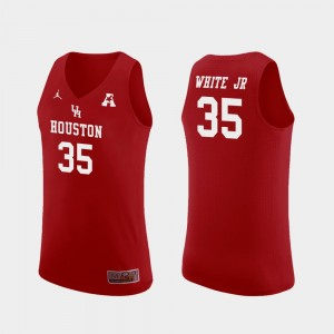 Men's #35 Replica Cougars Basketball Fabian White Jr. college Jersey - Red