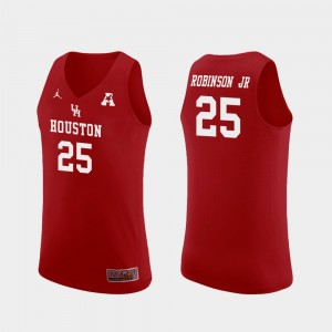 Men's #25 Basketball Replica UH Cougars Galen Robinson Jr. college Jersey - Red