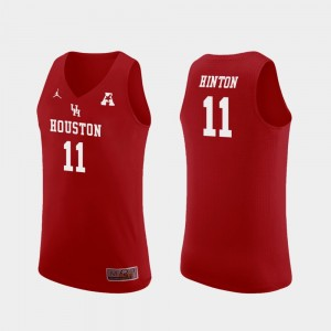 Men's UH Cougars Replica Basketball #11 Nate Hinton college Jersey - Red