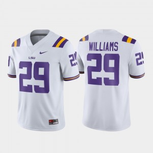 Men Football Tigers #29 Game Greedy Williams college Jersey - White