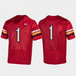 Men's Maryland Terrapins Football Replica #1 150th Anniversary college Jersey - Red