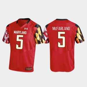 Mens #5 Anthony McFarland college Jersey - Red Football Replica Maryland Terrapins