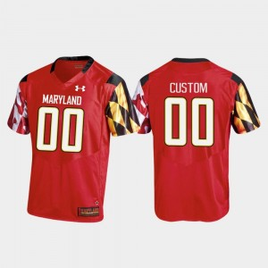 Men Replica Football Maryland #00 college Customized Jersey - Red