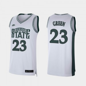 Mens #23 Retro Limited Michigan State Spartans Basketball Draymond Green college Jersey - White