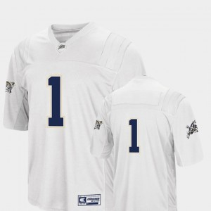 Men's Football United States Naval Academy #1 Colosseum college Jersey - White