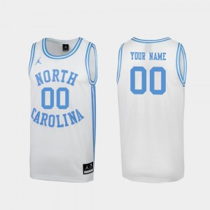 Men's University of North Carolina #00 Special Basketball March Madness college Custom Jersey - White